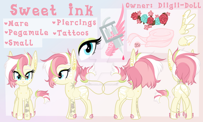 Sweet Ink official ref sheet by Diigii-Doll