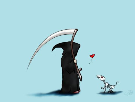 Death and his little Dead Dog by emy-msm
