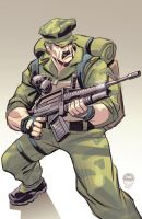 Leatherneck - GiJoe - Commission by EryckWebbGraphics