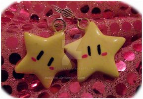 Custom star earrings by NatSilva