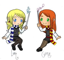 Luna and Ginny by BehindThoseEyes