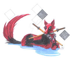Wolf Series_Deadpool by EmeraldSora