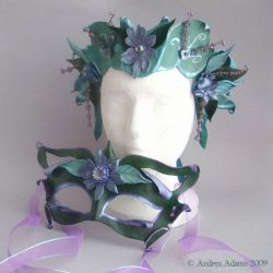 Sage Meadow Mask and Crown by Beadmask