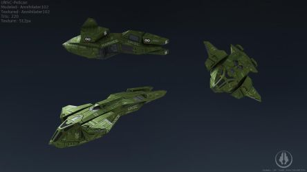 UNSC Pelican lowpoly by Annihilater102