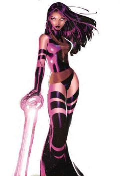 Psylocke as Phoenix by RiotousHeart
