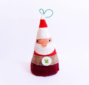 Red Santa Claus ornament by Narthys
