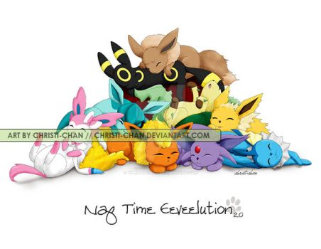 New Naptime Eeveelution by christi-chan