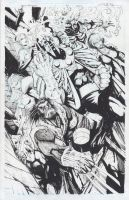 AGE OF APOCALYPSE ORIGINAL ART-- by Sandoval-Art