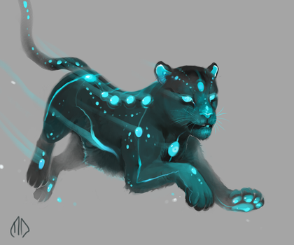 Daily Painting 014 Space Leopard by misha-dragonov