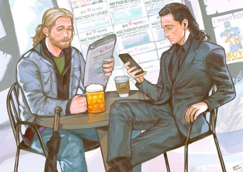 Thor and Loki by pelcron
