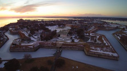 YUN00013 2nd aerial shot of Fort Monroe by Monori