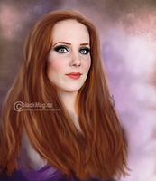 Magical Simone Simons painting by perlaque