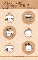 Coffee Pins by littlepaperforest