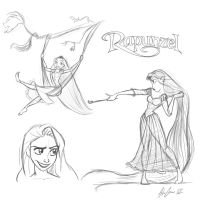 Rapunzel Sketches by al305sr