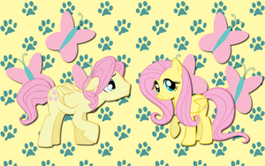 Butterscotch and Fluttershy WP by AliceHumanSacrifice0