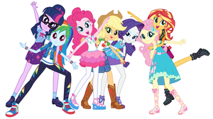 EQG Mane seven new style png 01 by Gouhlsrule