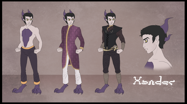 Xander - Outfit Concepts by hannahgrace-art