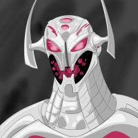 Quick Ultron sketch by ProjectCornDog