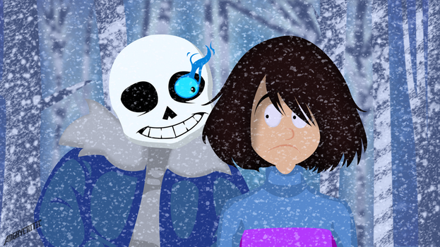 Undertale : Sans and Frisk by ngrycritic