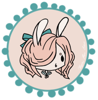 Bunny Badge~ by ieatzteddybearz