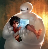 Baymax being Baymax.. by Iruuse