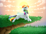 Rainbow Sunset by TwinkePaint