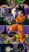 Goku and his opponents in DBS by AdeBa3388