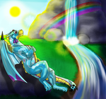 Under the Rainbow by MelodicDragon
