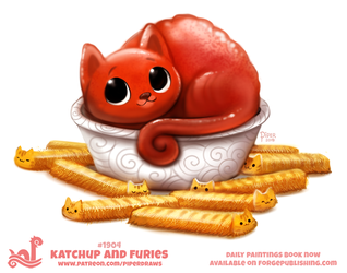 Daily Paint 1904# Katchup and Furies by Cryptid-Creations