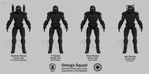 Omega Squad - Republic Commando by graphicamilitare