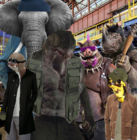 Bebop and Rocksteady with The M-Gang by MonsterIsland1969