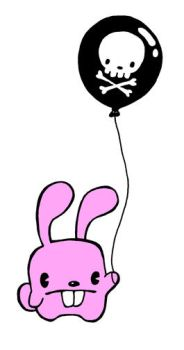 bunny and baloon by PacoAfroMonkey