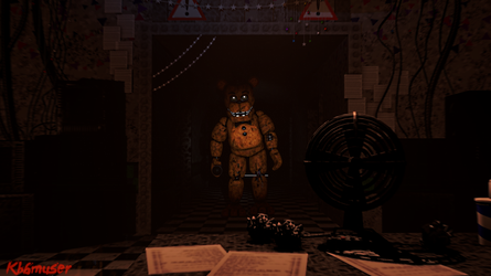 Withered Freddy in Hallway by Kooble6muser