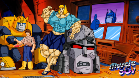 Muscle 80s - The Transformers. by Atariboy2600
