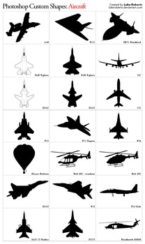 Custom Shapes: Aircraft by lukeroberts