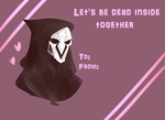Overwatch - Reaper's Valentine card by akkame
