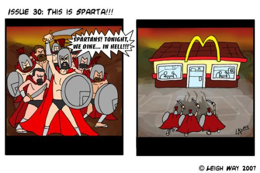 Spartan '300' Comic by AngelCrusher
