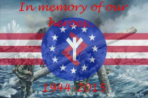 Founders' Party D-Day Memorial Poster 2015 by GeneralHelghast