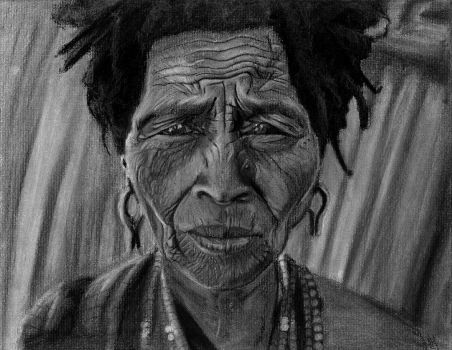 Charcoal drawing of internet photo by vytera
