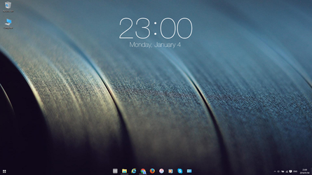 iOS Clock for Rainmeter by Stefanie2983