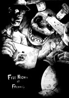 Five Nights at Freddy's WIP Ink by EyeOfSemicolon