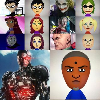 Most Teen Titans + Remaining DC Characters as Miis by marioandluigi97