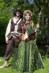 Summer Faun and Steampunk Pirate (EFF costumes) by oasiaris