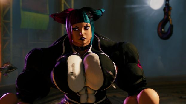 Punk Juri Muscle Stage 2 by Ripped-Pixels