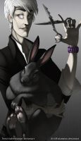 An Artist and His Bunny by Altalamatox