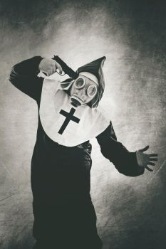 Nun gas mask by SpookyPic