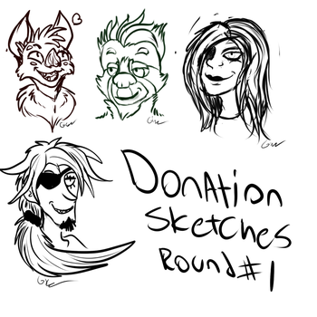 Donation sketches by KingGigabyte
