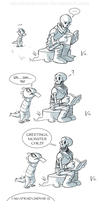 Papyrus's New Fan:  Part 1 of 3 by AbsoluteDream