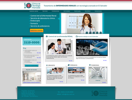 Web design - Clinicas by alexcorpion