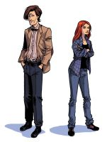 the new Doctor Who and Amy by iliaskrzs